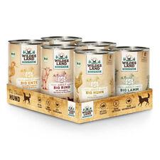 Wildes Land | Mixpaket BIO | 6 x 400 g | Nassfutter | Hundefutter