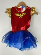 Girls WONDER WOMAN Costume Super hero Tutu Dress NO Cape M (8-10)