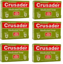 6 x Crusader Original Medicated Soap for Clear Healthy Skin 80 g