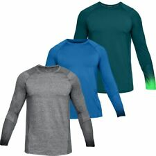 Under Armour Heatgear Mk-1 Raid 2.0 Ls Fitness Training Sports Gym Top T Shirt