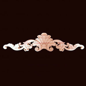 Large Unpainted Wood Carved Onlay Applique Furniture Home Decor.