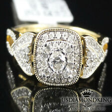 LADIES 14K YELLOW GOLD SI1-H .37CT GENUINE REAL DIAMOND ENGAGEMENT RING BAND NEW