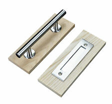 Stainless Steel Sliding Barn Door Handle Wood door handle two side handle pull