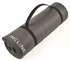 Incline Fitness Extra Thick and Long Comfort Foam Yoga/Exercise Mat with Carryin