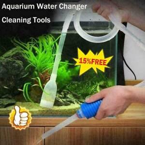 1.6m Aquarium Siphon Gravel Cleaner Tube Fish Tank Vacuum Water ChanAU