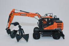 UH 8134  Doosan Mobilbagger DX 160 W  + 2 Anbauteile 1:50 NEU in OVP