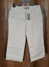 To The Max Beige Cotton Blend Straight Leg Capris Women's Size 6 NWT