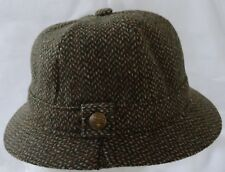 Vintage mens Failsworth England Wool Tweed button on hat band