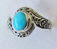 Sleeping Beauty Turquoise Ring, 925 Sterling Silver, size 10 --0.93 cts, 5g