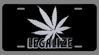 Cannabis Marijuana Pot Weed Leaf Laser Etched Metal License Plate Gifts CBD Gift