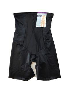 NEW Underscore Women's Black Hi-Waist Long Leg Body Shaper Sz XXL