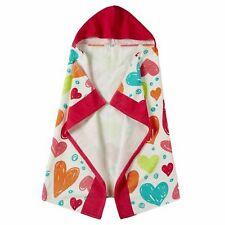 Hearts Youth Hooded Bath Wrap Towel Beach Towel Cotton 30x50 Nwt
