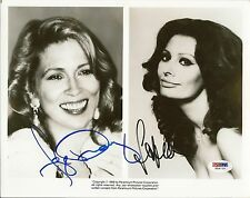 Sophia Loren & Faye Dunaway Signed 8x10 Photo PSA/DNA COA Star Picture Autograph