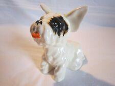 Vintage Crown Devon Pottery Terrier Dog Figure Figurine