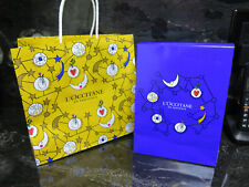 Gift TOTE Bags Yellow Blue L'OCCITANE EN PROVENCE BAG LOT OF TWO Finished Paper