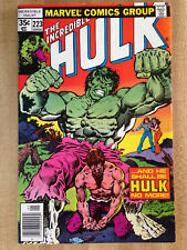 THE INCREDIBLE HULK #223 VF 1978 Johnny Bench Louisville Slugger Bats Gloves Ad!