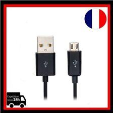 Câble Cordon Données Recharger Micro USB 1m   Noir pour Samsung LG HTC