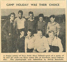 1959 Heys School Trip Photo David Brockett