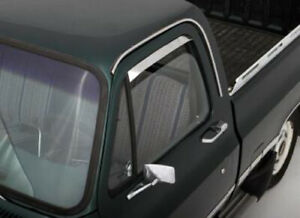AVS 12064 Ventshade Deflector - 2Pc Stainless 1973-1979 Ford F-Series Pickup