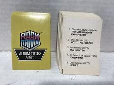 Vintage Pressman Rock Trivia Replacement  Trivia Cards Album Titles Artist Cards