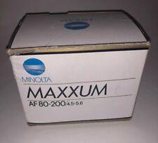 Minolta Maxxum AF 80-200/4.5-5.6 Zoom Lens: #2604-6000; NIB