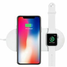 2 in 1 Qi Wireless Charger For Apple Watch iPhone Stand Fast Charging