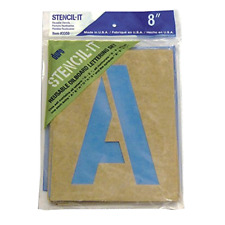 Large Alphabet Stencils Letters 8in Stencil Oil Board Numbers Symbols Reusable .