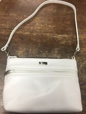 PERLINA Small Vintage White Leather Bag Pre Owned Great Condition