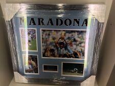 Diego Maradona Signed & Framed WORLD CUP Photo Display AFTAL COA (A)