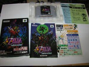 Legend of Zelda Majora's Mask Nintendo 64 N64 Japan Boxed Complete US Seller B1
