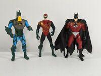 Vintage 1995s Action Figure Kenner DC Comics Batman & Robin Lot of 3 Collectable