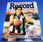 1988 Qualifting Final AFL VFL Football Footy Record Collingwood V Carlton 64 Pg