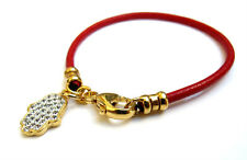 Red string bracelet kabbalah hamsa evil eye luck charm gold 14k amulet hebrew