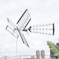 180 Mile HDTV Outdoor Amplified HD TV Antenna Digital UHF/VHF FM Radio 1080P
