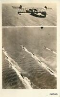 1920s Early Aviation Seaplane Naval Battle Group RPPC real photo postcard 10182