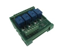 4 Channel 12VDC Relay Board PLC DIN Rail Mounting - PNP