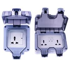 Waterproof Outdoor 13A Weatherproof Switch Socket IP66 Fit for US&EU&UK&AU Plug