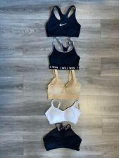 5 Pair Sports Bras (Nike, Genie, Warners, No Boundaries, Other) Womens Size M