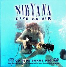 NIRVANA- Live on Air KAOS FM 1987 CD & SNL TV Rarities DVD (NEW Box Set 2005)