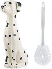 Dalmation Dog Toilet Brush Holder Bathroom Accessory Decor Black White Ceramic