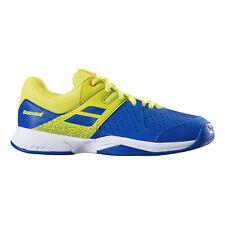 Babolat Kinder Pulsion Indoor Junior Tennis Teppichschuh Blau EU NEU