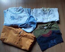 LOT 7 HABITS bébé/garçon 1 AN 12 MOIS pyjamas,ciré,hauts,body,bavoir COMME NEUFS