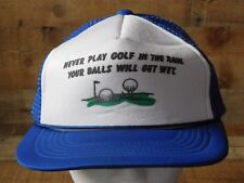 Never Play GOLF In The Rain Snapback Adjustable Adult Hat Cap