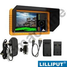 "LILLIPUT 5"" Q5 FullHD Slim Waveform SDI/HDMI cross conversion LP-E6 F970 adapter"