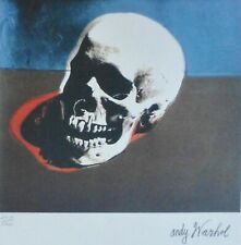 ANDY WARHOL SKULL WHITE SIGNED + HAND NUMBERED 2439/5000 LITHOGRAPH