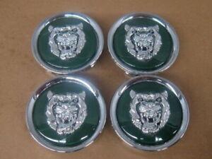 Jaguar Green Wheel Badge Emblem Center Hub Cap Set Of 4 MNA6249AB Fits 1988-2012