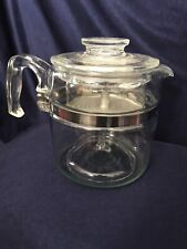 New ListingVintage 1960s Pyrex Flameware 6 Cup Glass Percolator Coffee Pot 7756 Complete
