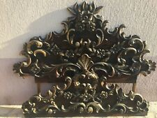 Carved hand made  Antique Wood Bed Frame High Head Board 19 century