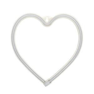 LED Neon Light Heart Sign Decorative Night Lamp Xmas Valentine Day Gift R1BO