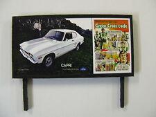 Ford Capri & The Green Cross Code Modelleisenbahn Billboard-N & OO Gauge